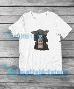 Baby Yoda Drinking White Claw T-Shirt