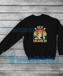 Ben Drankin Party Vintage Usa Poster Sweatshirt