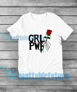 Girl Power Hand Up With Rose T-Shirt