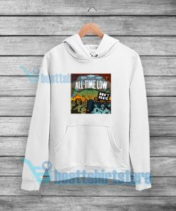 All Time Low Don't Panic Hoodie Rock Band Merch S-3XL