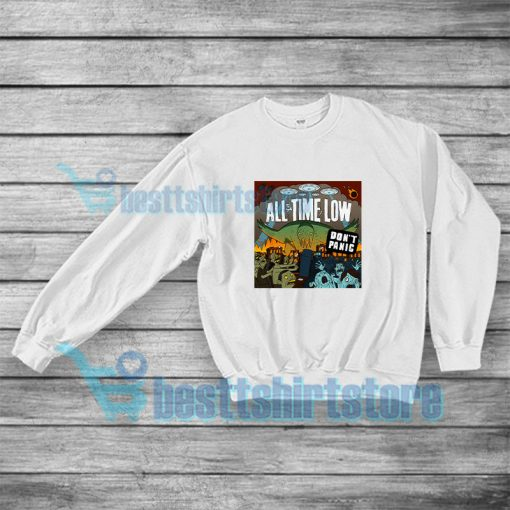 All Time Low Don't Panic Sweatshirt Rock Band Merch S-3XL
