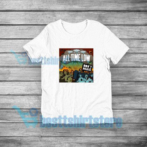 All Time Low Don't Panic T-Shirt Rock Band Merch S-3XL