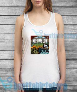 All Time Low Don't Panic Tank Top Rock Band Merch S-2XL