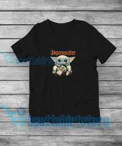 Baby Yoda Funny Jagermeister T-Shirt Star Wars Merch S-3XL