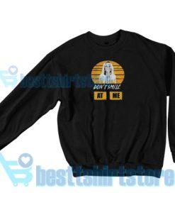 Billie Eilish Album Time Sweatshirt Don't Smile At Me S-3XL