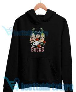 Bucks Peanuts Parody Hoodie Women and men S-3XL