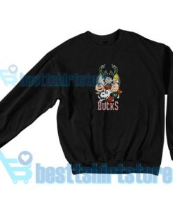 Bucks Peanuts Parody Sweatshirt Women and men S-3XL