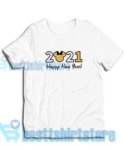2021 Disney New Year's T-Shirt S - 3XL