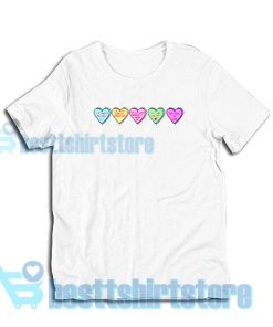 Candy Heart Disney Love Quotes T-Shirt S - 3XL