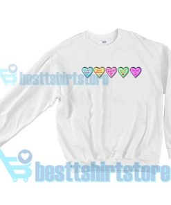 Candy Heart Disney Love Quotes Sweatshirt S - 3XL