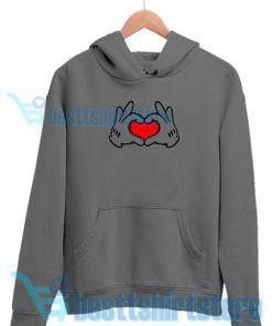 Mickey Valentine Hoodie for Men's and Women's S – 3XL
