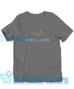 Origami-Paper-Bird-T-Shirt-Grey