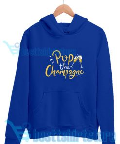 Pop-The-Champagne-Hoodie-Blue-navy