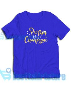 Pop-The-Champagne-T-Shirt-Blue-navy