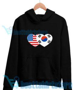 Patriotik-Amerika-Korea-Hoodie