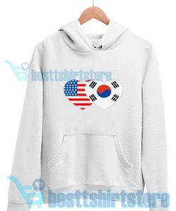 Patriotik-Amerika-Korea-Hoodie-White