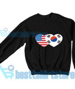 Patriotik-Amerika-Korea-Sweatshirt