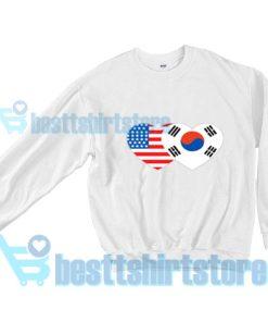 Patriotik-Amerika-Korea-Sweatshirt-White