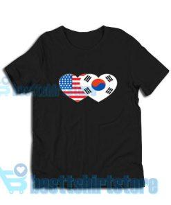Patriotik-Amerika-Korea-T-Shirt